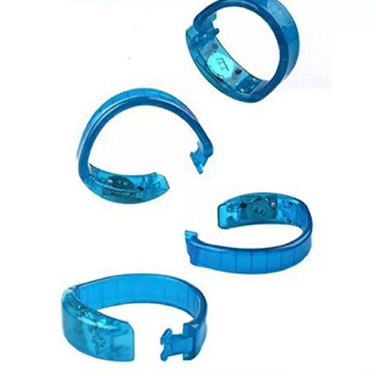 Bracelet de contrôle vocal LED Glo-sticks Bracelet de clignotant électronique LED Bracelets luminescents Bracelet de poignet LED Livraison gratuite