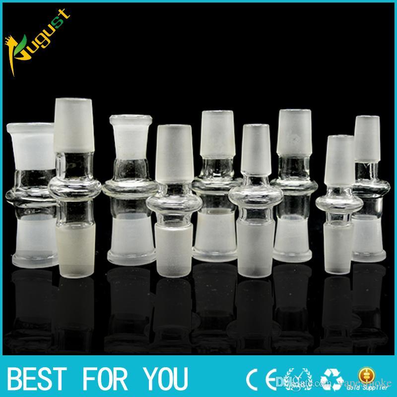 Heißer Verkauf Art und Weise 10 Arten für wählen Glasbong Adapter 14 18 gemeinsamen männlich weiblich Schnittstellenadapter für Glasbongs Schüssel Nagel Kuppel