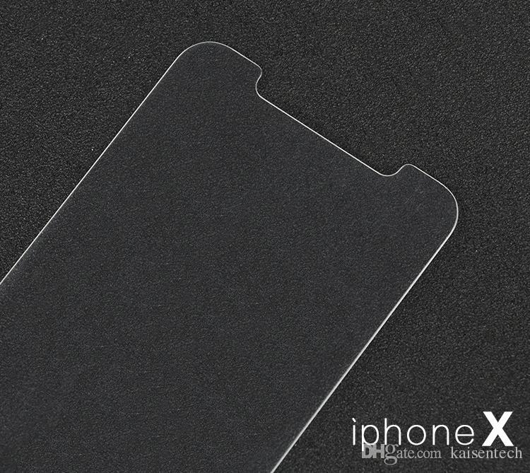 Tela ultrafinos 9H 2.5D curvo temperado vidro protetor para iPhone X vidro protetor de tela para tela iPhoneX atacado película protetora