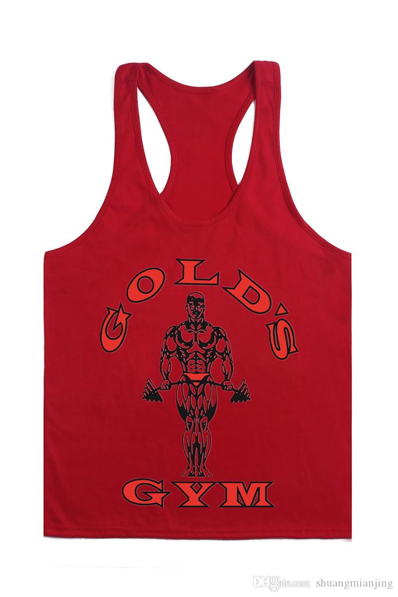 Bodybuilding Stringers Gym Tank Top Men Golds Gym GASP LOA Fitness Singlet Vest Muscle Shirt Undershirt Sport Clothes