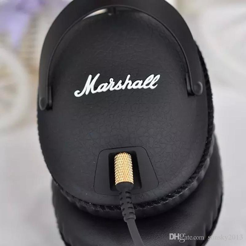 Marshall Monitor Headphones with Microphone Sports Headphone Stereo Hifi DJ Headset Can Change Line Ladle M-ACCS-00152 Noise Cancelling