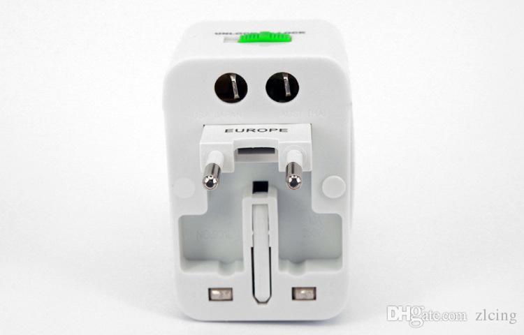 Все в одном универсальный международный штекер адаптер мира путешествия зарядное устройство адаптер переменного тока с AU США Великобритания ЕС конвертер штекер 100 шт. / лот
