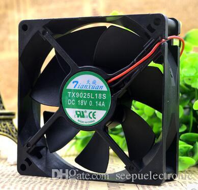 OF 2 Nuovo TX9025L18S DC 18 V 0.14A 9CM 9025 Frigorifero Termostato Cabinet Ventola di Raffreddamento Spedizione Gratuita