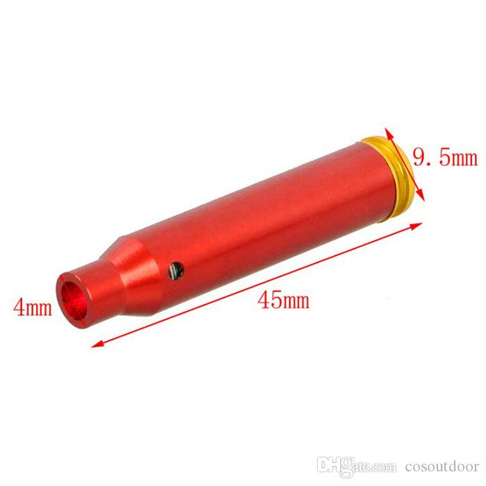 Neue Taktische Messing Gewehrpatrone Red Dot 223 Laser Bore Sight Schussprüfer Jagd Zubehör Kostenloser Versand