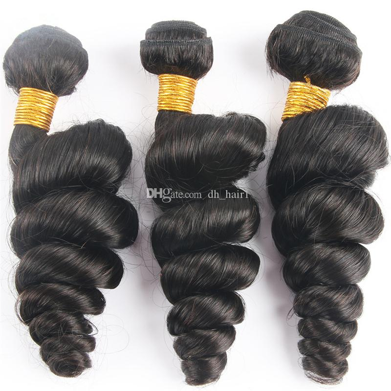 Virgin Indian Loose Wave Hair With Lace Frontal Closure Human Hair 3 Bundles With Frontals Indian Virgin Hair