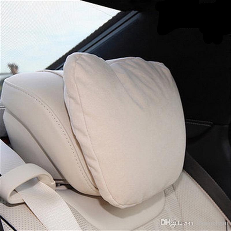 Soft car headrest pillow microfiber pain relief driving for Mercedes benz car seat cushion