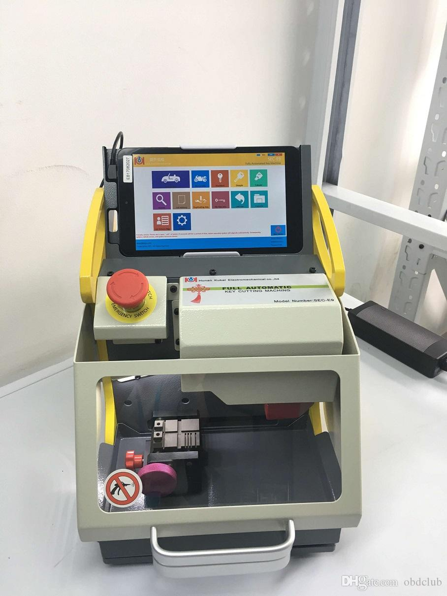 4 Clamp DHL free shiping key cutting machine SEC-E9 portable smart duplicate car key cutting machine SEC E9 Better than Slica Key Machine