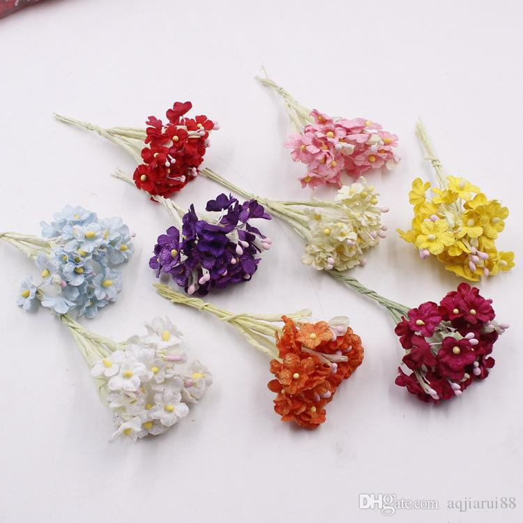 12cm Artificial Mini Dried Flowers Bouquet Decor Scrapbook Corsage ...