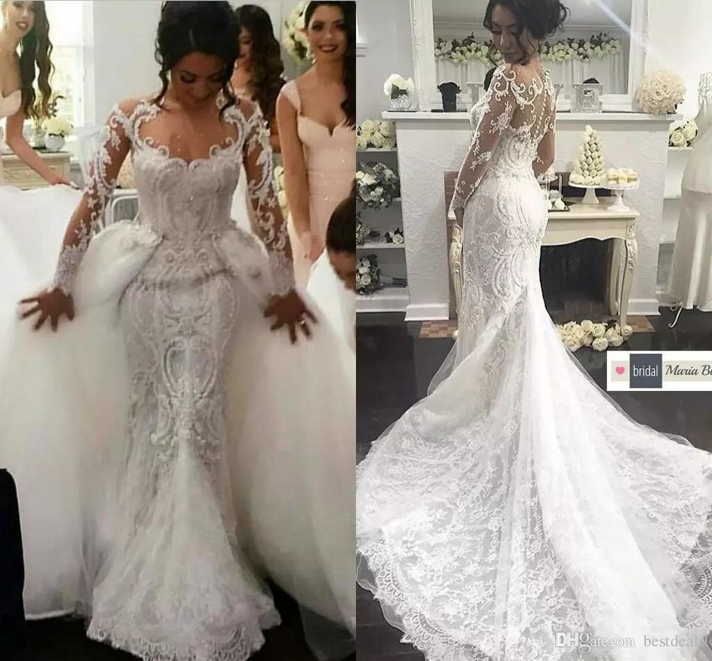 2018 Designer Luxury Middle East Mermaid Wedding Dresses