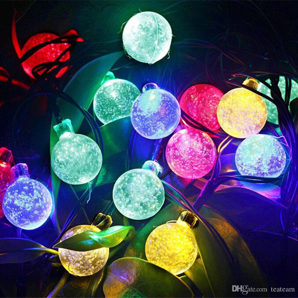 Ball Shape Fairy Garden Lighting Wedding Decoration 30 Led Solar Powered  String Light Backyard Party Ornament Romantic String Bulb Lights String  Light Bulbs ...