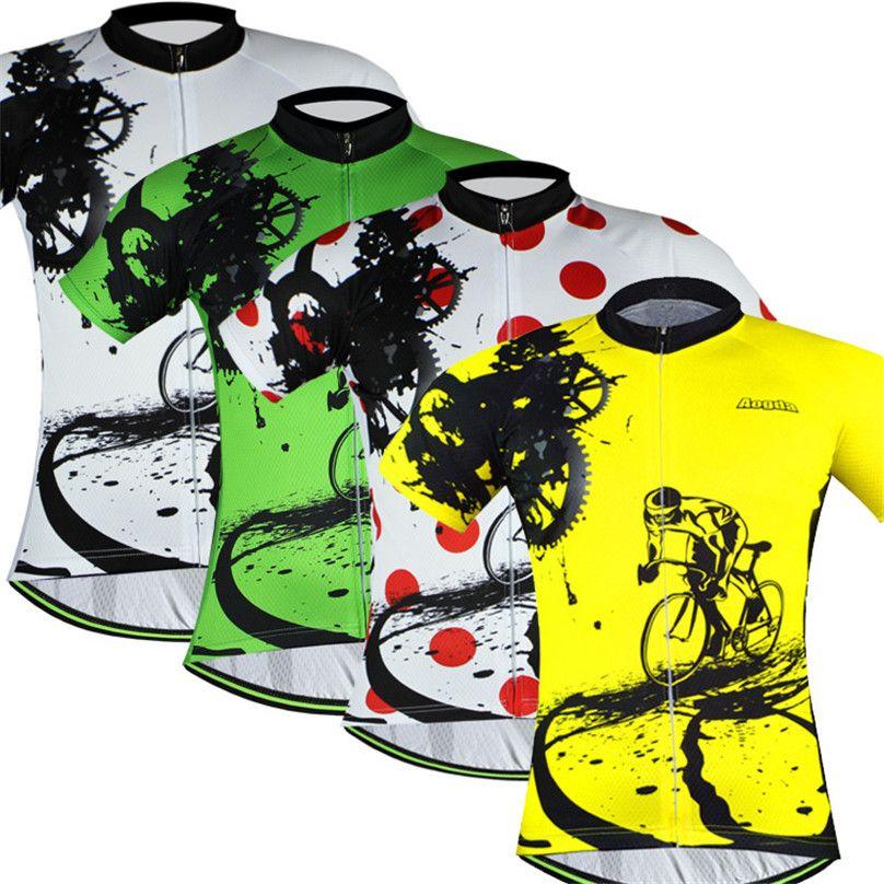 Bike Team 2018 Women Men Cycling Jersey Tops Short Sleeve Bike Clothing  Summer Style Bicycle Clothes Yellow Green Yellow Red Mountain Bike Shorts  Shirts ... 168eda067