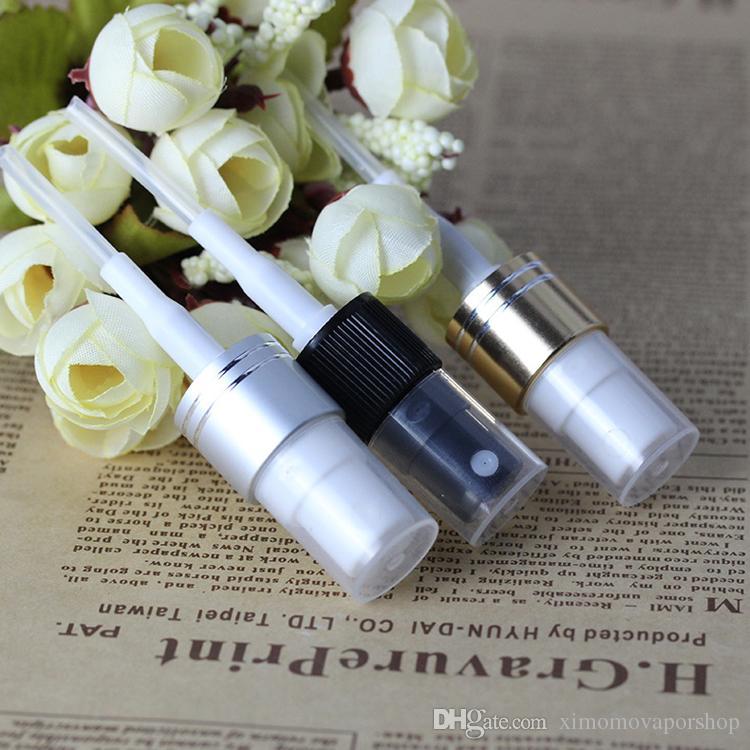 DHL / 10ml Cam Şişeler, Parfüm Eliquid için Siyah Gümüş Altın Püskürtme Atomizer ile Boş Refilable Sprey Şişe Sprey