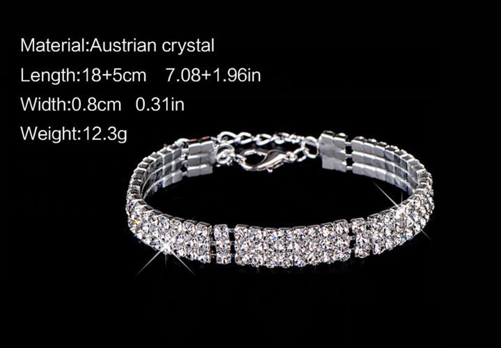 Großhandel Starry Diamant Geometrische Quadrat Armband Versilbert