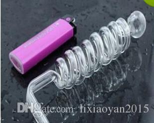 Rôti de verre en spirale à 8 anneaux, accessoires de narguilé a1