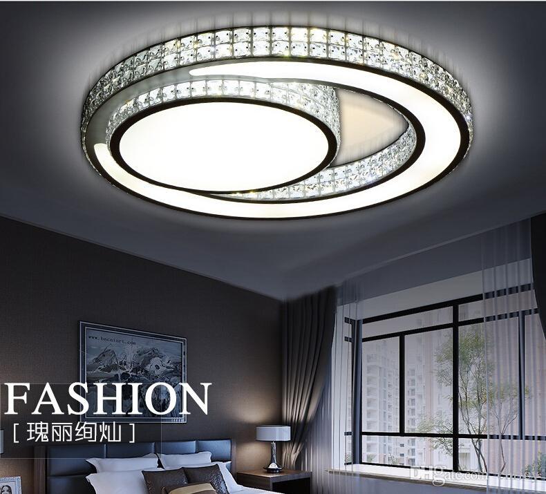 modern crystal ceiling lamp bedroom lights luminarias de led living room light plafondlamp fittings flushmount lighting