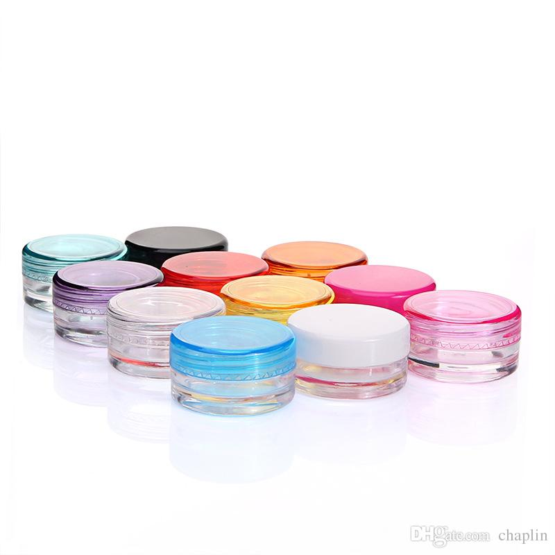 5ML Plastic Cosmetic Container Jar With Screwed Lid 5Gram Mini Empty Pot For Eyeshadow Nails Powder Beads Jewelry Cream Wax Bottle