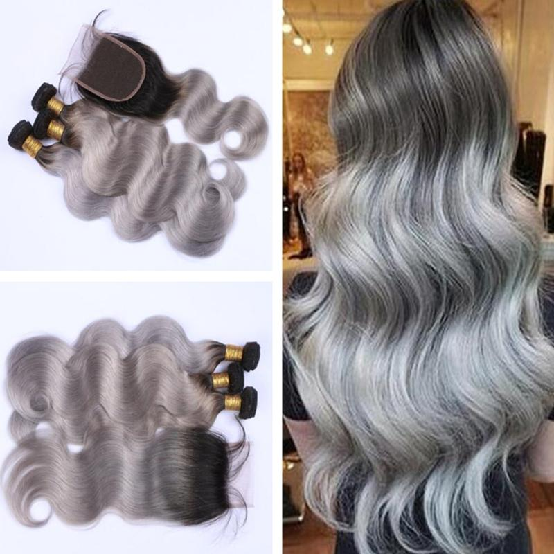 Compre Ombre Body Wave Hair Bundles Com Fechamento Brazilian Virgin
