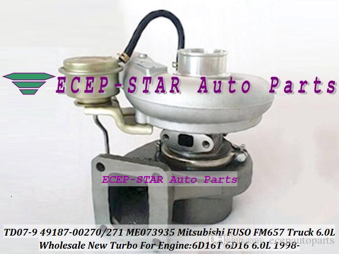 TD07-9 TD07 49187-00271 49187-00270 ME073935 4918700271 4918700270 Turbo Turbocompressore camion Mitsubishi FUSO FM657 1998- 6D16T 6D16 6.0L
