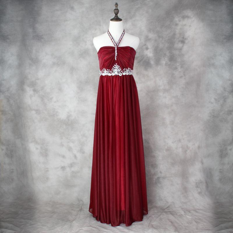 Halter Hee Bluaded Bridesmaid платья длиной 2016 новое плиссированное платье подружки невесты для свадебной вечеринки Бургундский цвет