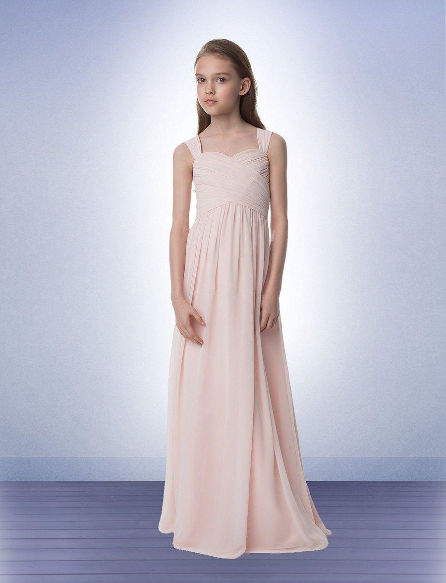 Junior bridesmaid chiffon dresses cheap