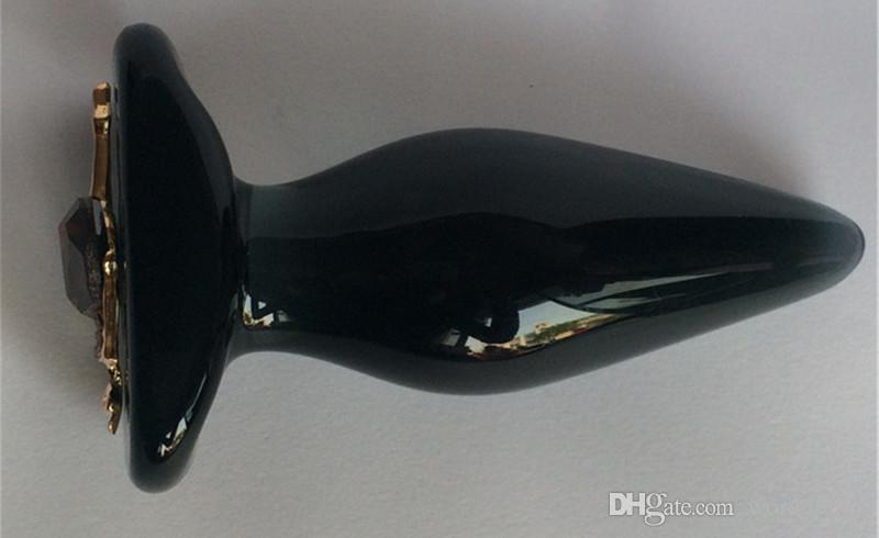 Dia 35 MM Big Glass Anal Butt Plug In Juegos para adultos para parejas, Anus expandible Productos del sexo Juguetes para mujeres y hombres Gay
