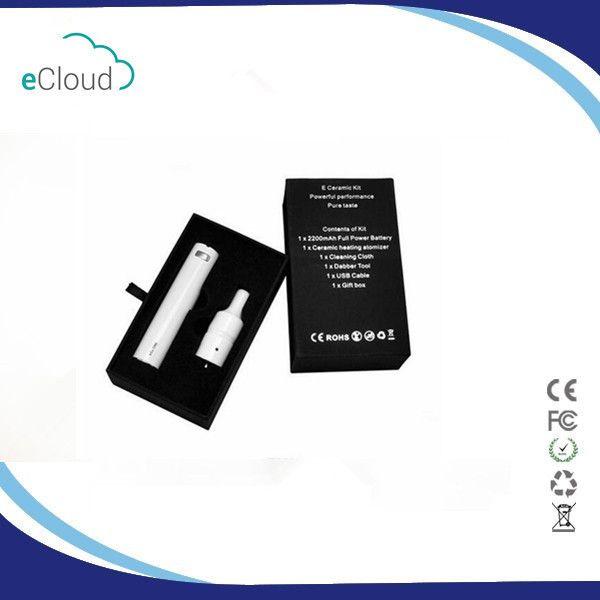 세라믹 도넛 왁스 기화기 펜 Vapor Donut 왁스 Atomizer 전자 펜 평면 세라믹 가열 소자 2200mAh EGO ONE 배터리 스타터 키트 DHL 무료