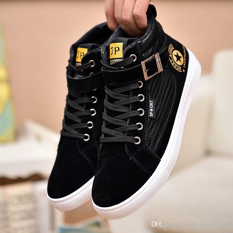 Compre 2018 Hombres De La Casuales Bandada De Cuero Zapatos Casuales La De La 0ee4a4