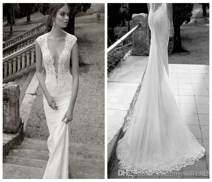 2016 New V-neck Perspective Mermaid Evening Dresses Sexy Backless Lace Applique Prom Dress Long Tail Banquet Robe Plus Size