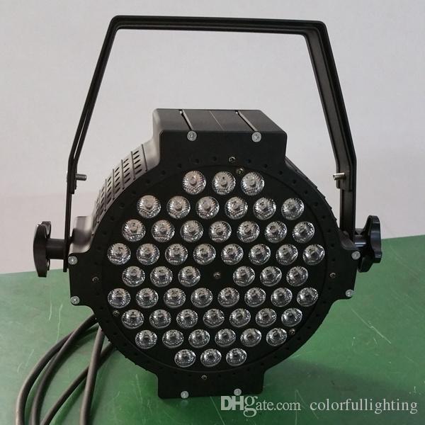 무료 배송 54X3W 주조 알루미늄 고전력 플랫 파 LED RGB 3in1 트라이 컬러 플랫 Par64 LED