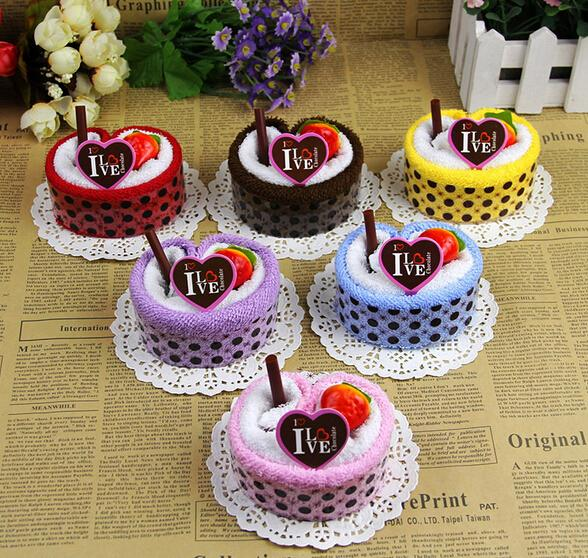 Colorful Cake Towel Strawberry Fruit Cake Towel As Gift For