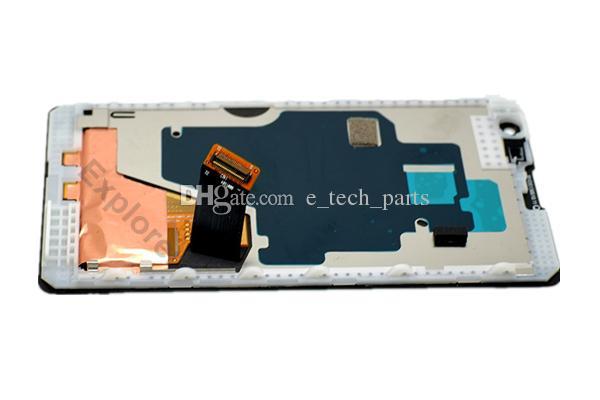 OEM LCD Ekran + Dokunmatik Ekran Sayısallaştırıcı montaj Çerçeve Temperli için Nokia Lumia 1020 LCD Testi Geçti DHL Ücretsiz Kargo ile