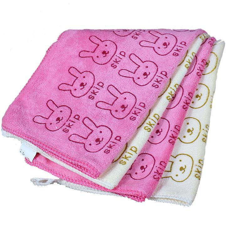 Wholesale high quality lint rabbit towel baby small towel handkerchief factory direct children 30*31CM