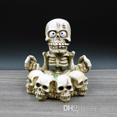 ремесла Хэллоуин украшения череп портативный фонарь доставка творческая личность мода пепельница ретро подарок подарок череп пепельница