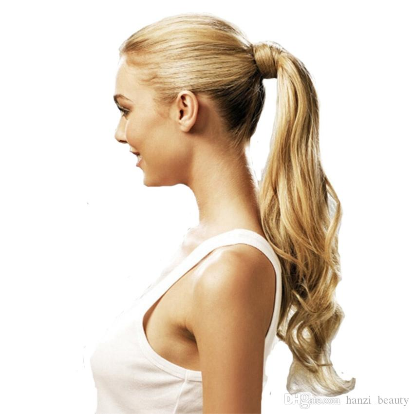Synthetic Tie On Ponytail Hair Extensions For Women Tail Hairpiece Long  Natural Wave High Temperature 24inches Long Hair In Ponytail Long Hair In A  Ponytail ... b41a422d2