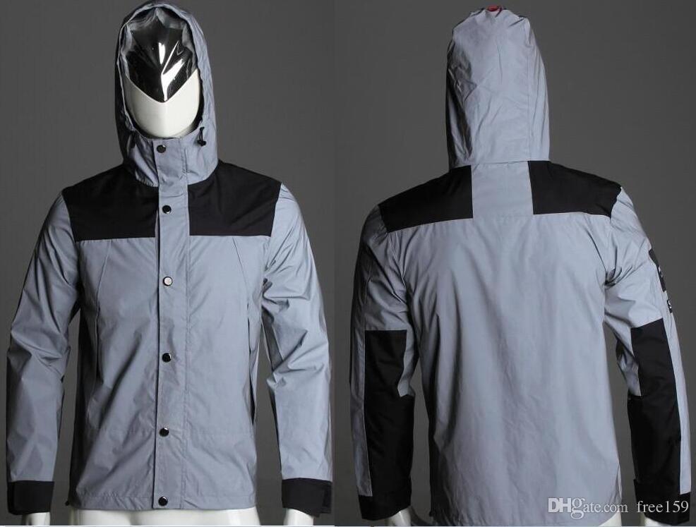 Neue Hohe Qualität Öffnung Box reflektierende flagge Jacke Uniform Windjacke Mode Männer Frauen Paar Design Hoodies Sportwear Sweatshirts