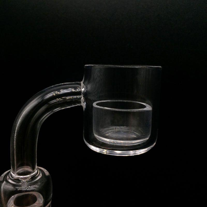 2 milímetros 25mmOD Flat Top Quartz Banger Com removível Quartz Insira 10mm 14 milímetros 18 milímetros Masculino Feminino Quartz Banger Nails para o vidro Bongos água