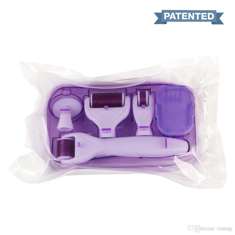 Cilt Bakımı ve Vücut Tedavisi İçin Mikro İğne Yüz Roller Cilt Bakımı dermaroller 1 Microneedle Derma Roller Titanium Yeni 6