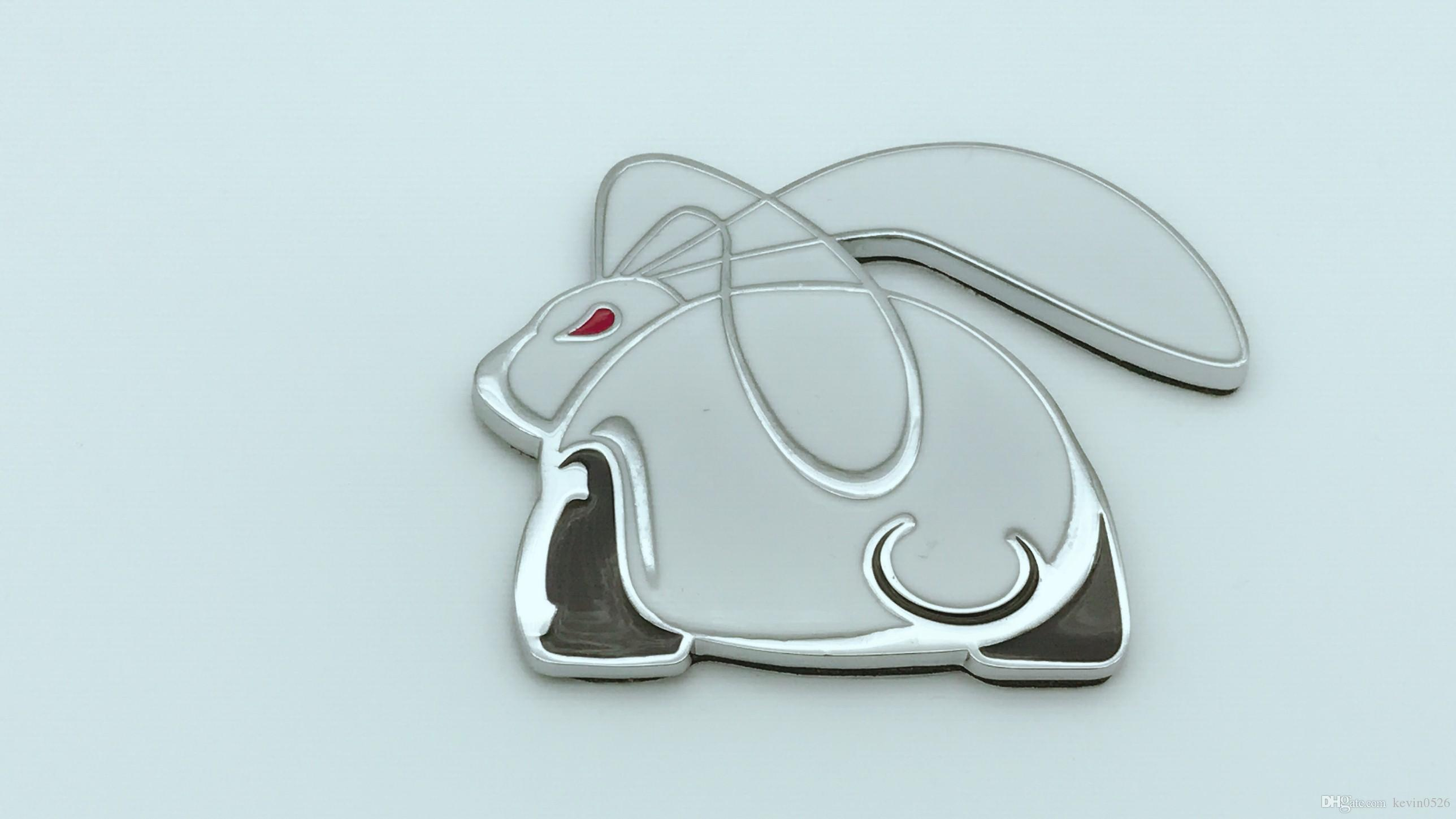 Gti racing evil rabbit chrome metal car sticker emblems for vwvw golf mk6 cc scirocco side panel car decals accessory