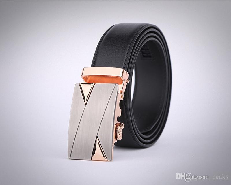 28625b533e5c Compre Cinturones Vendedores Al Por Mayor Nueva Moda Para Hombre Cinturones  De Negocios Belt Joyería Auto Botón Cinturones De Cuero Genuino Para Hombres  ...