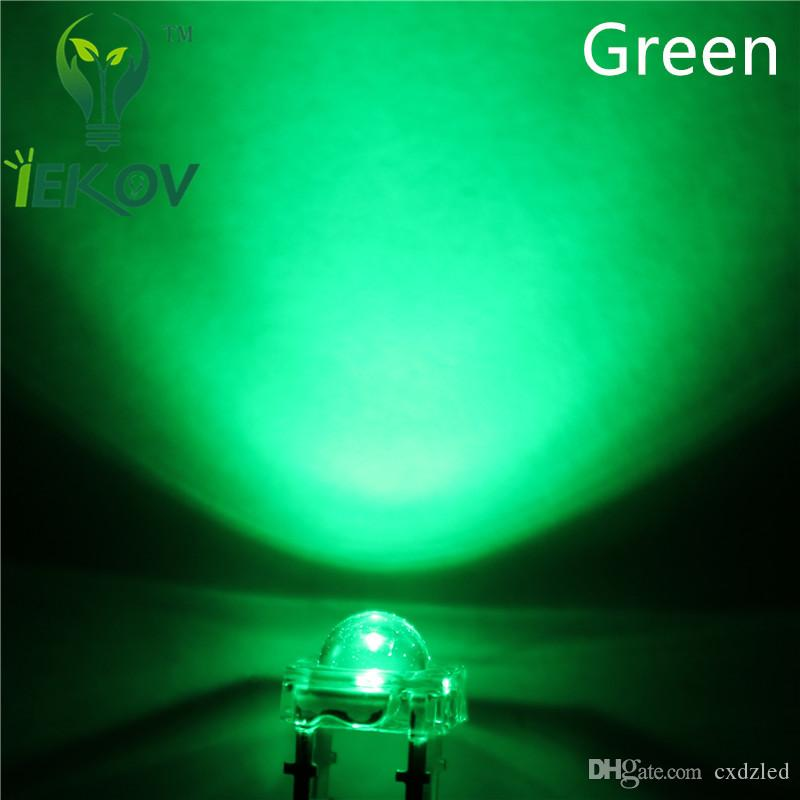 5MM Piranha Green Super Flux Leds 4pin Wide Angle Super Bright light Emitting Diodes Lamp For Car Light High Quality Hot Sale