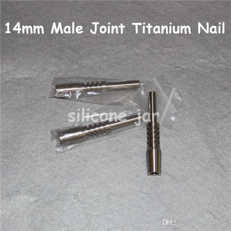 2016 punta del collettore del nettare di titanio chiodo di titanio 10mm 14mm 18mm chiodo invertito grado 2 chiodo di titanio punta Ti collettore di nettare di vetro
