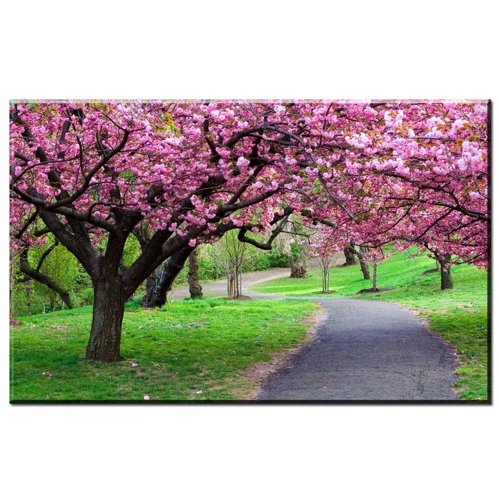 Arbol De Cerezo Japones compre zz1693 hermoso Árbol de flor de cerezo japonés lienzo pintura al  Óleo del arte de la pared cuadros para la sala de estar dormitorio  decoración