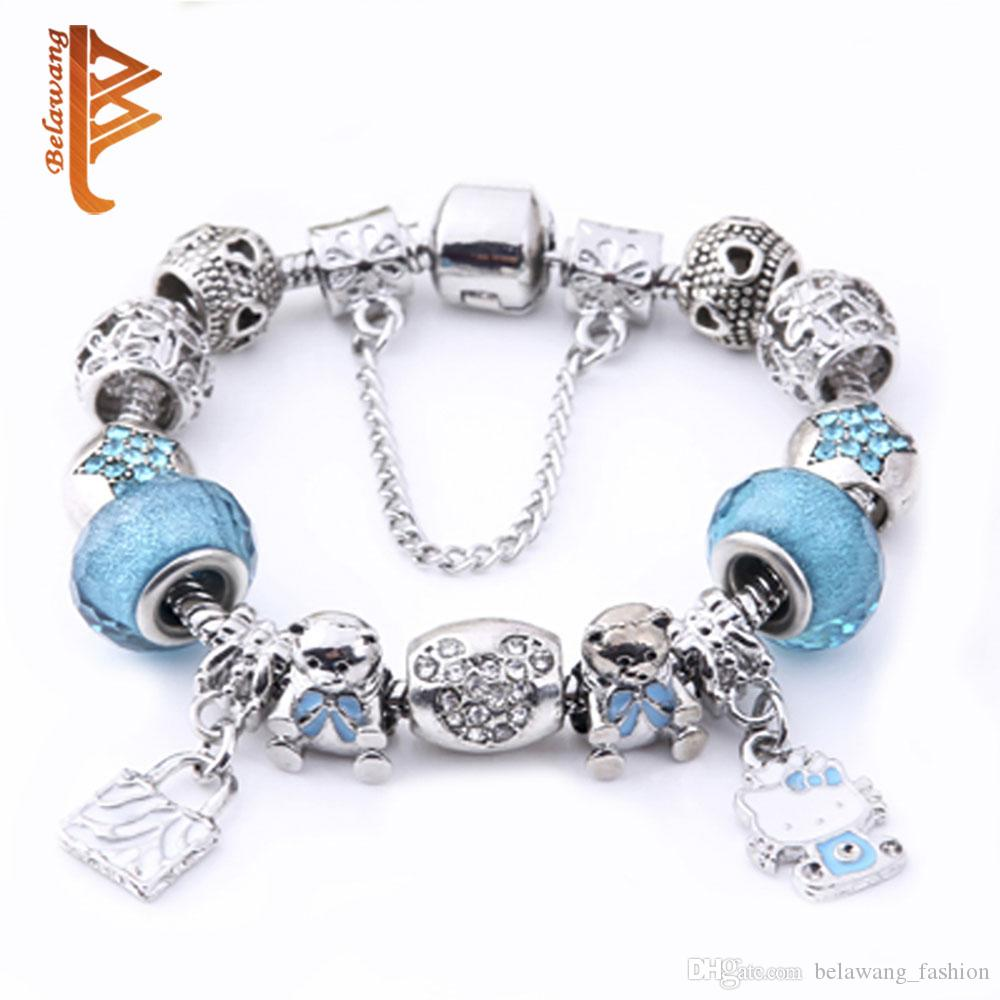 bead bracelet of with glass pendants making beads bracelets jewelry