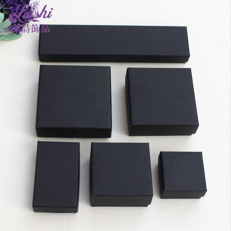 Highgrade Kraft Paper Black Jewelry Box Necklace Bracelet Earring