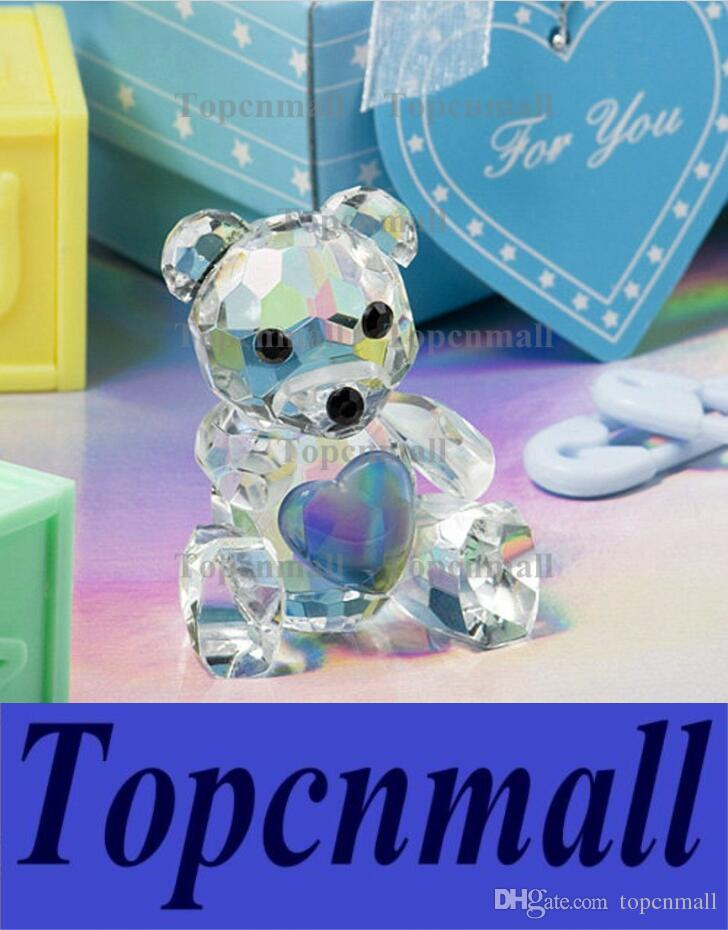 Baby Shower Favors Choice Crystal Collection Teddy Bear Figurines