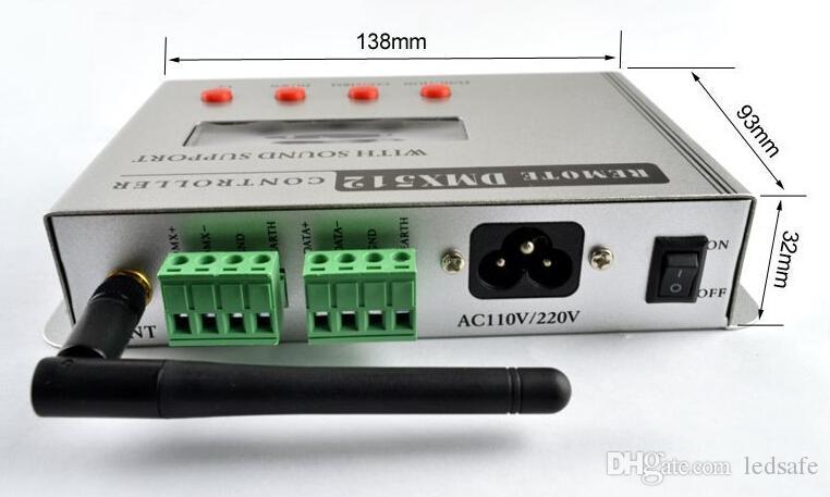 36 W RGB DMX512 LED Piscine Lumière Sous-Marine IP68 Surface Monté Lumières + AT3010D DMX Contrôleur Alimentation Adaptateur CE ROSH