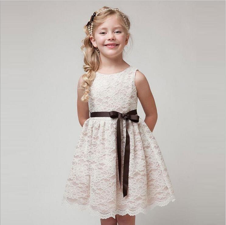 Kids Dresses For Weddings   2019 New Summer Girl Dresses Wedding Party Children Lace Dress