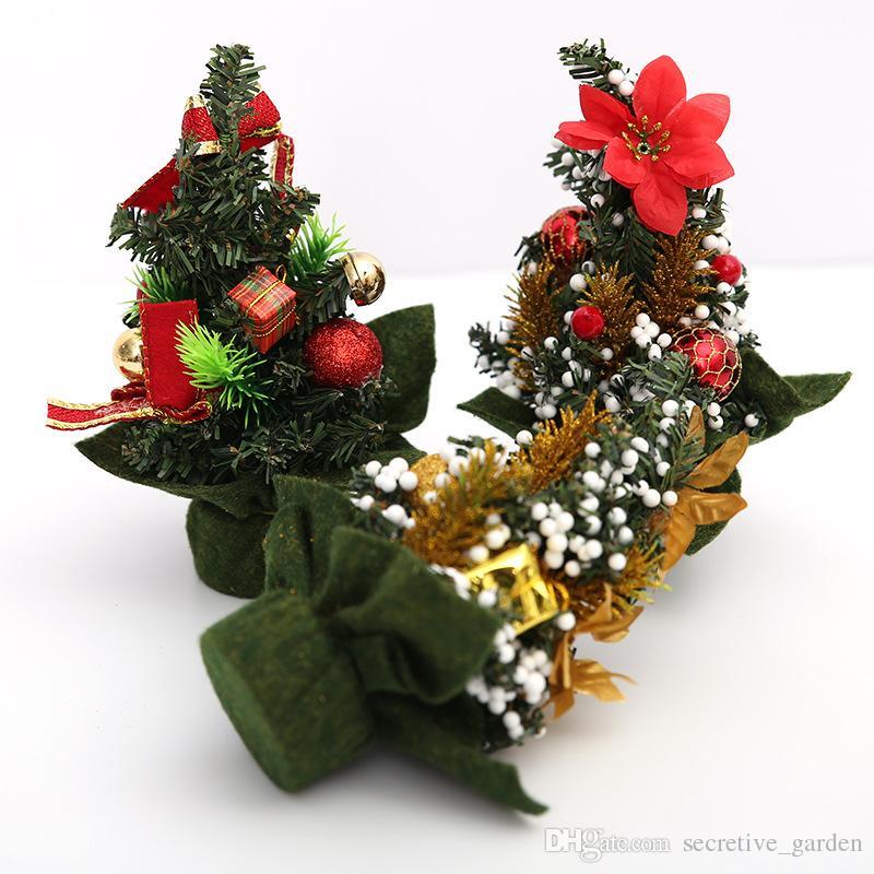 Christmas Mini Tree Decoration Desktop Decorated Christmas Supplies