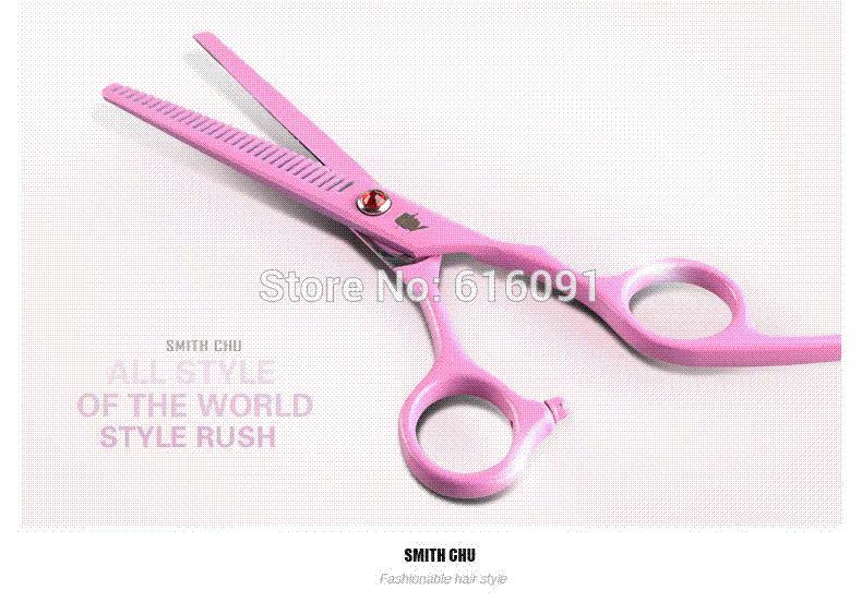 6.0 Hair Scissors Set,Cutting Scissors &Amp; Thinning Scissors,Pink ...