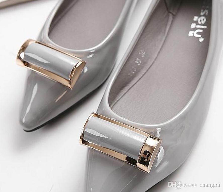뷰티로드, 2016 년 봄 여름 신작 아사 쿠치 신발 착용 패션 버클 패션 메탈 버클